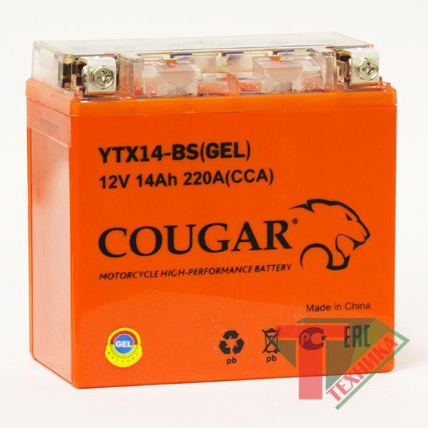 АКБ Cougar YTX14-BS