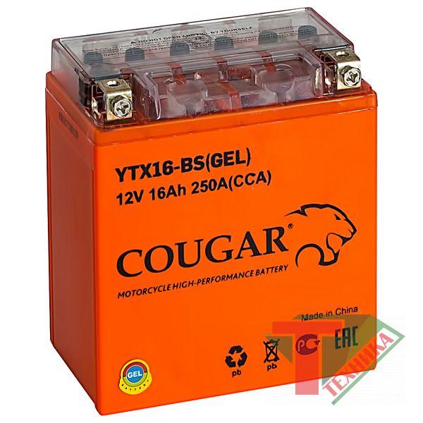 Акб Cougar YTX16-BS 16 а/ч Gel