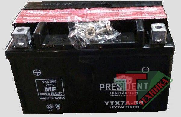 АКБ President 7Ah YTX7A-BS