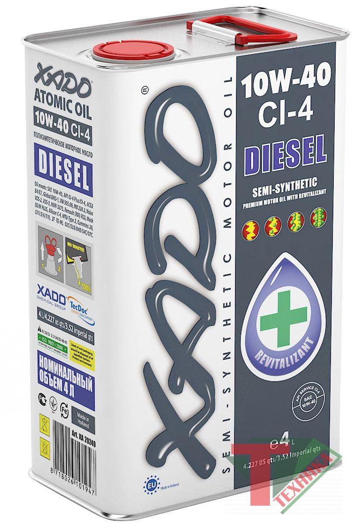 Хадо Atomik OIL 10W40 CI-4 Diesel 1L