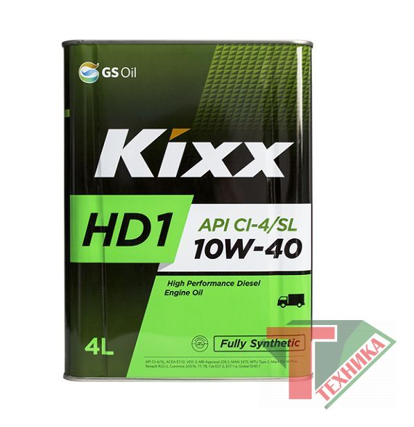 KIXX D1 10W40 HD1 Cl-4/SL 4л