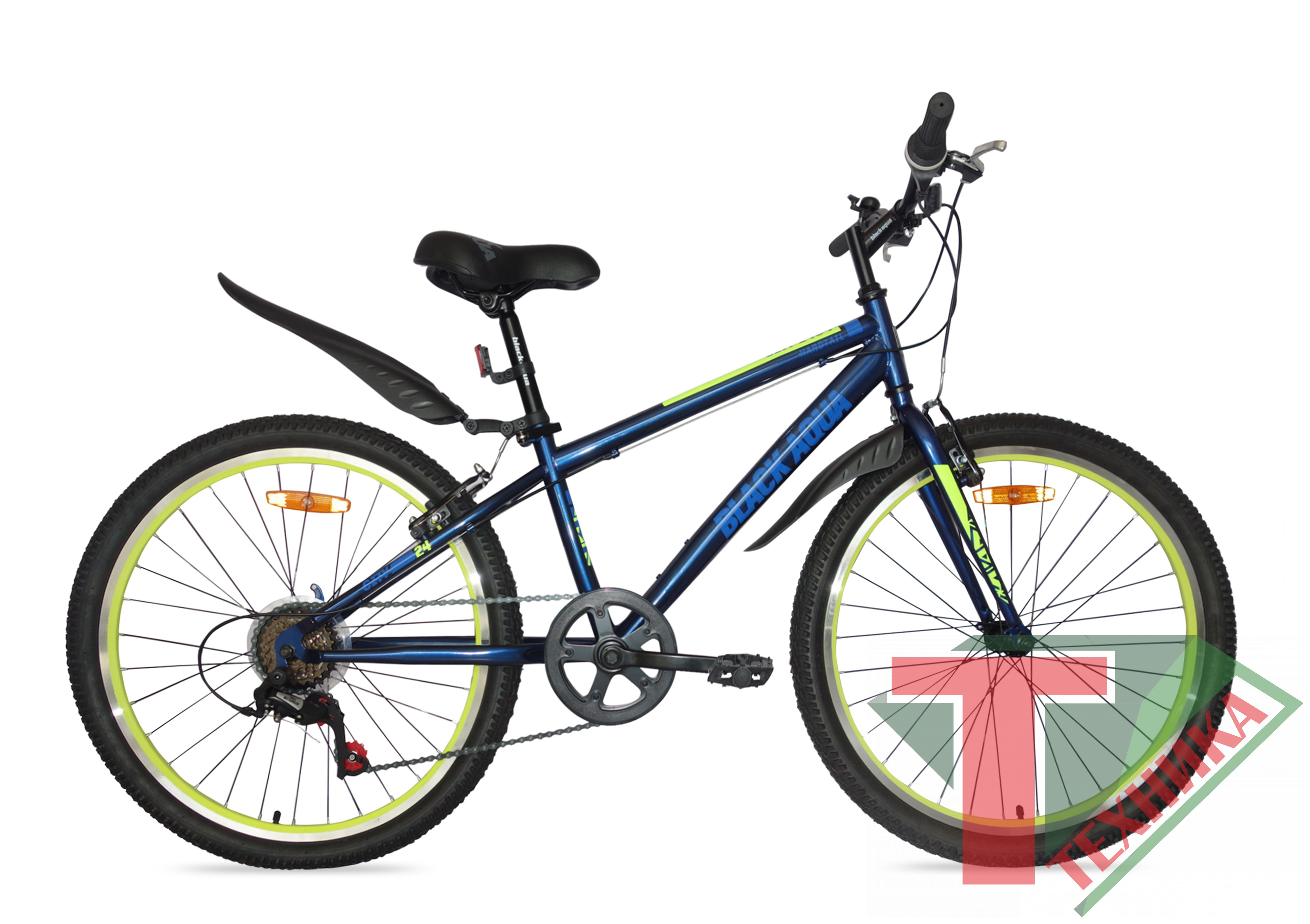 Велосипед GL-201V Black aqua City 1401V matt 24