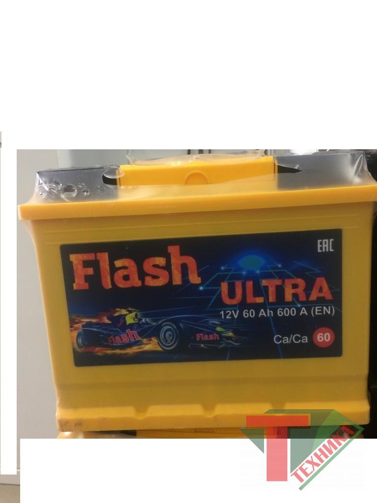 АКБ FLASH ULTRA 60 Ач 600А п/п