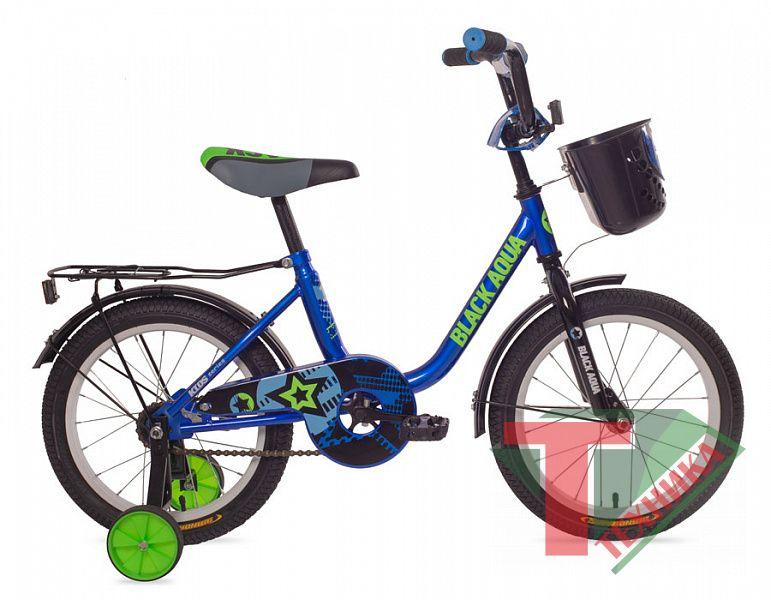 Велосипед DK-1804 Black aqua 1804 с корзиной