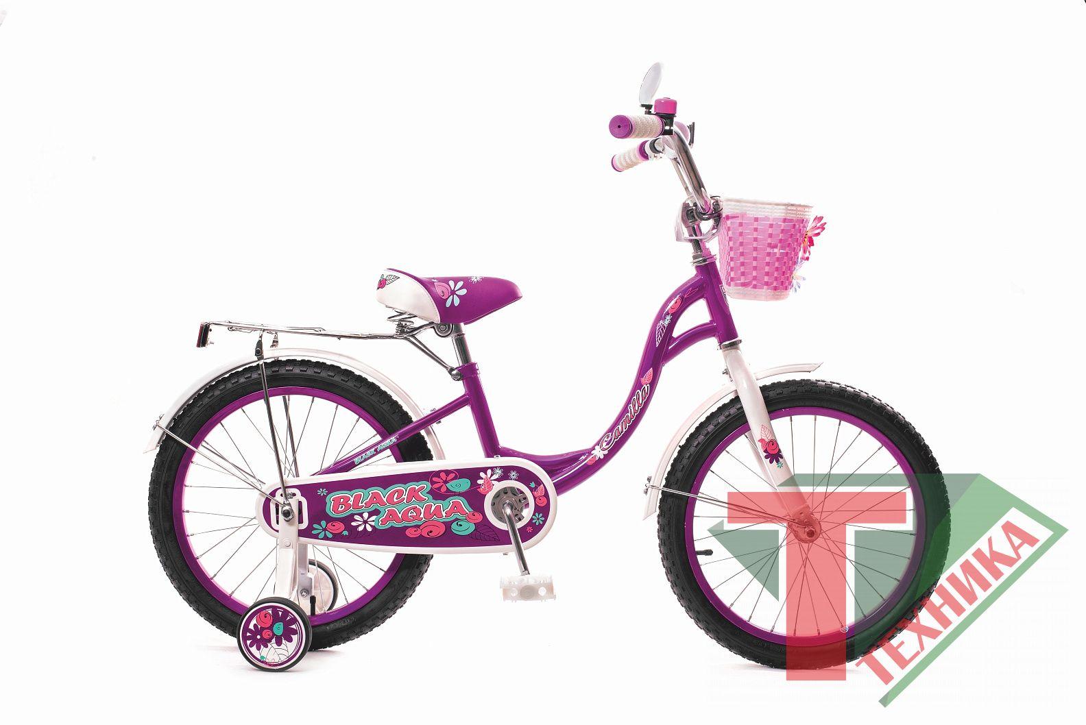 Велосипед KG1217 Black aqua Camilla 12