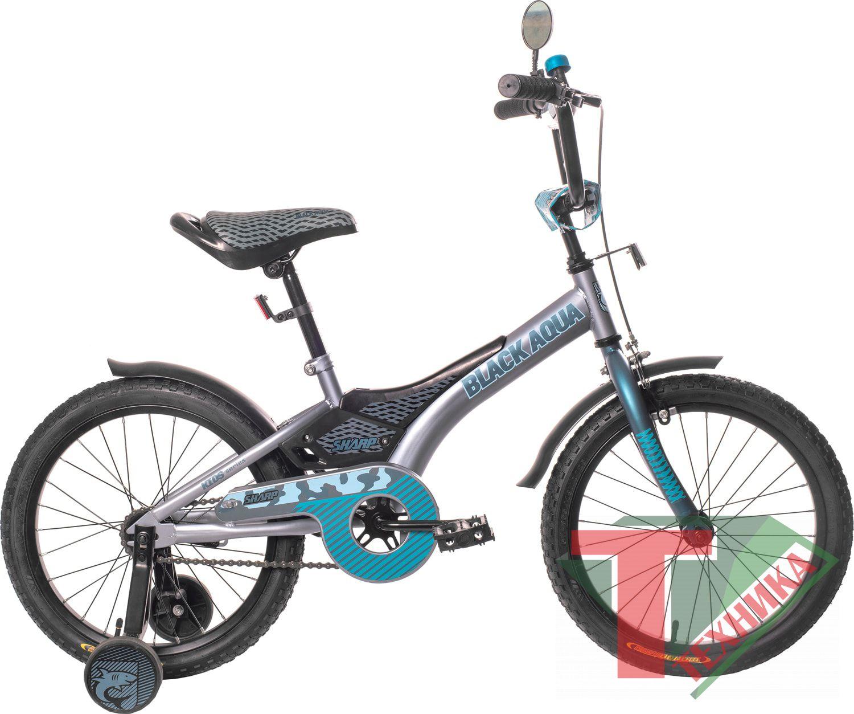 Велосипед KG1410 Black aqua Sharp 14 со светящимися колесами