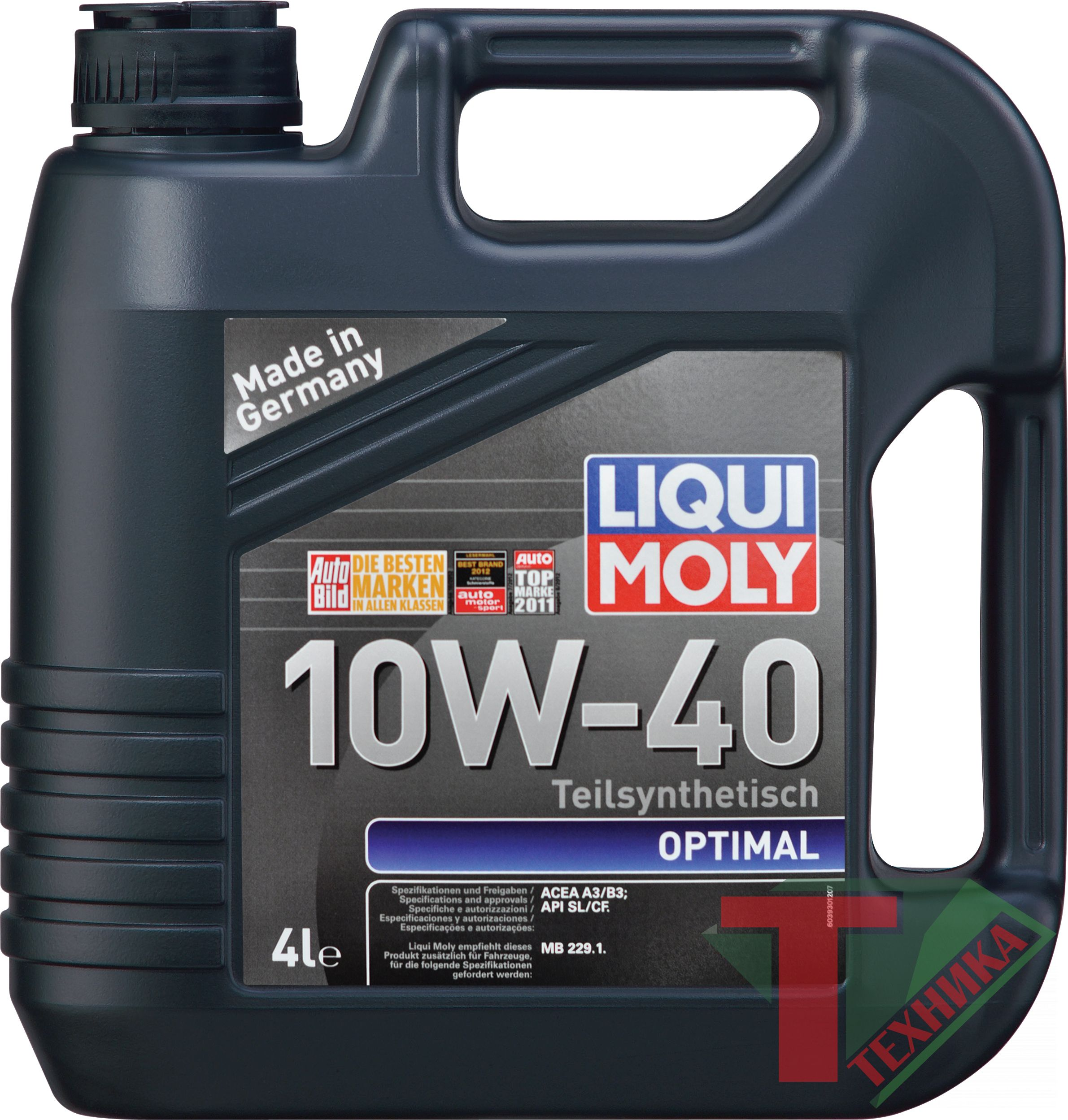 Liqui Moly Optimal 10W40 SL/CF; A3/B3 5л