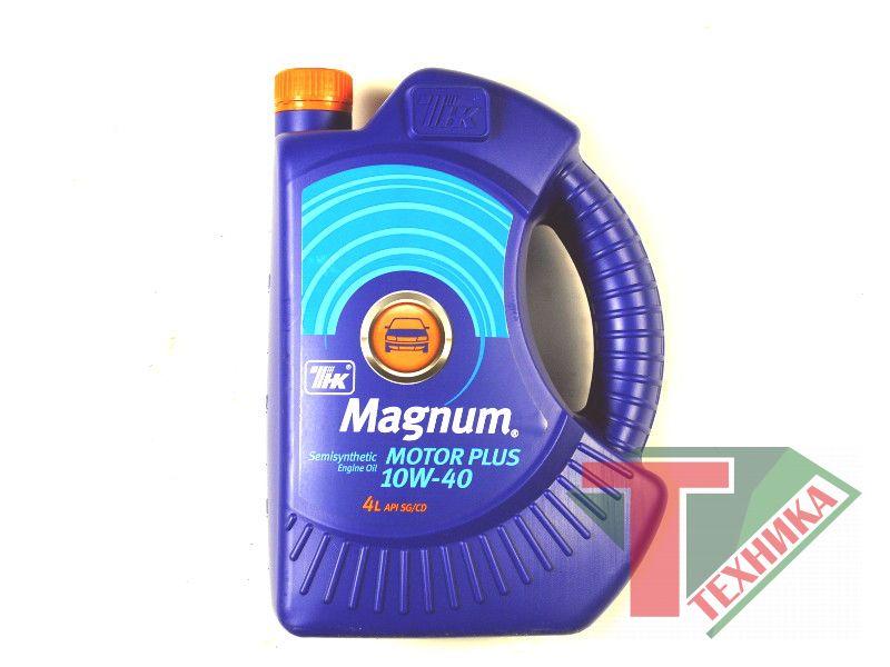 ТНК Magnum Motor Plus 10W40 п/с 4л (Люкс 10W40)