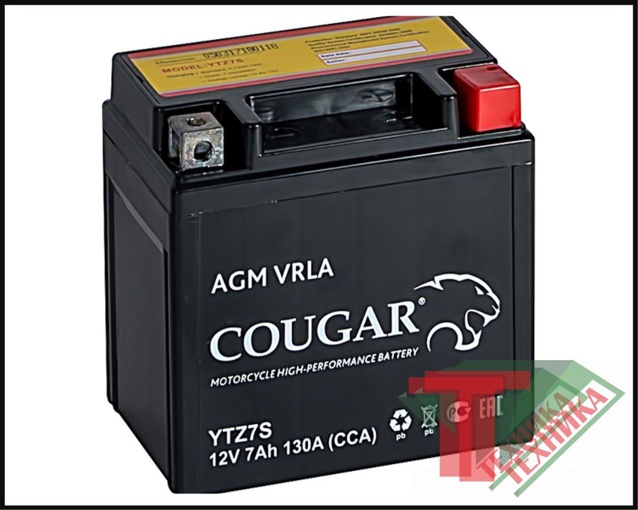 АКБ Cougar AGM 7Ah YTZ7S
