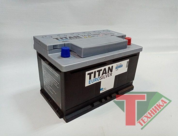 АКБ Титан 74.0 Ah-700 о/п низкий Euro Silver