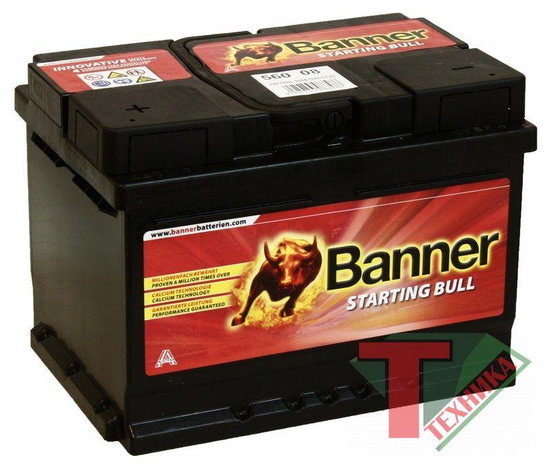 АКБ Banner Starting Bull 560 08