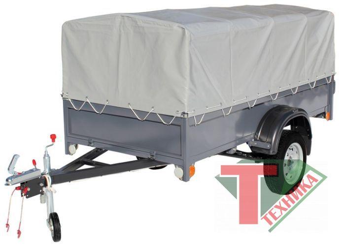 Прицеп 82993-1 бортовой с опорным колесом (без дуги и тента)
