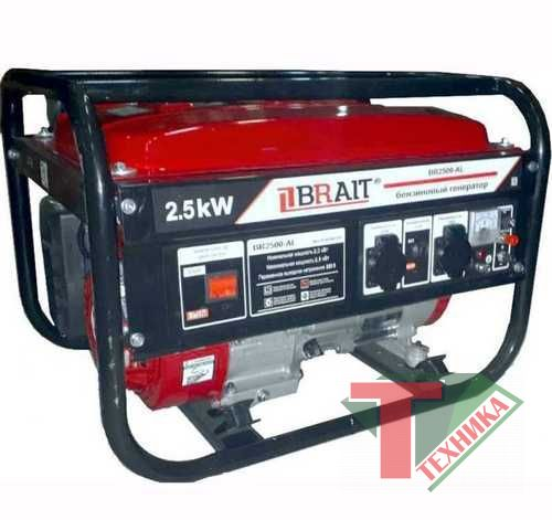 Генератор бенз.BRAIT BR-2500 CU 2.0-2,5 кВт 220B 50Гц