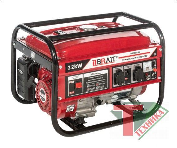Генератор бенз.BRAIT BR-3800 AL 2.9-3,2 кВт 220B 50Гц 12B