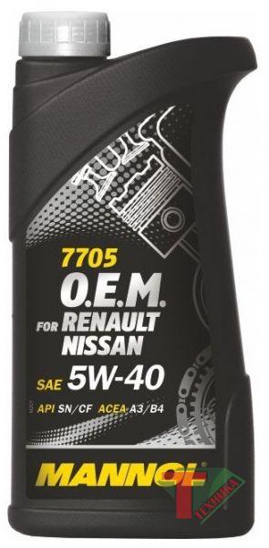 Mannol Renault Nissan 5W40 1л