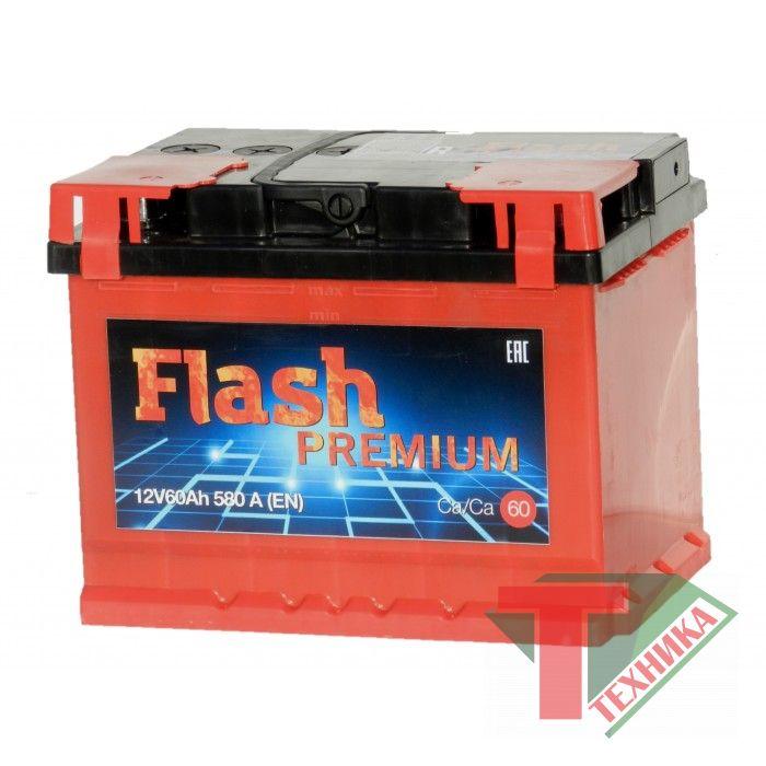 АКБ FLASH Premium 60 Ач 580А о.п.