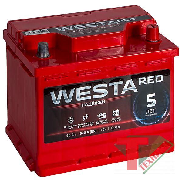 АКБ Westa Red 60 640A о/п  низ.