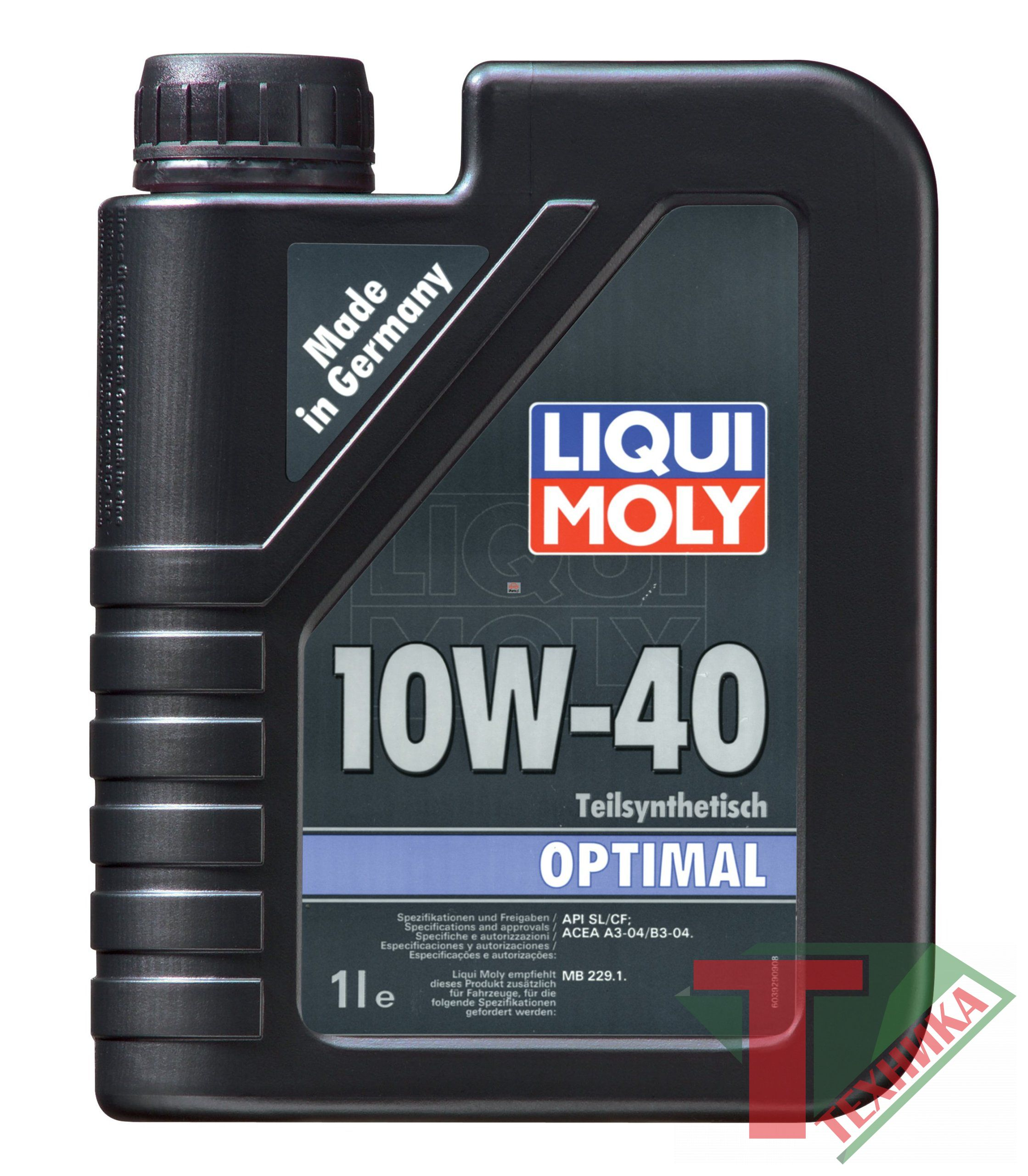 Liqui Moly Optimal 10W40 SL/CF; A3/B3 1л