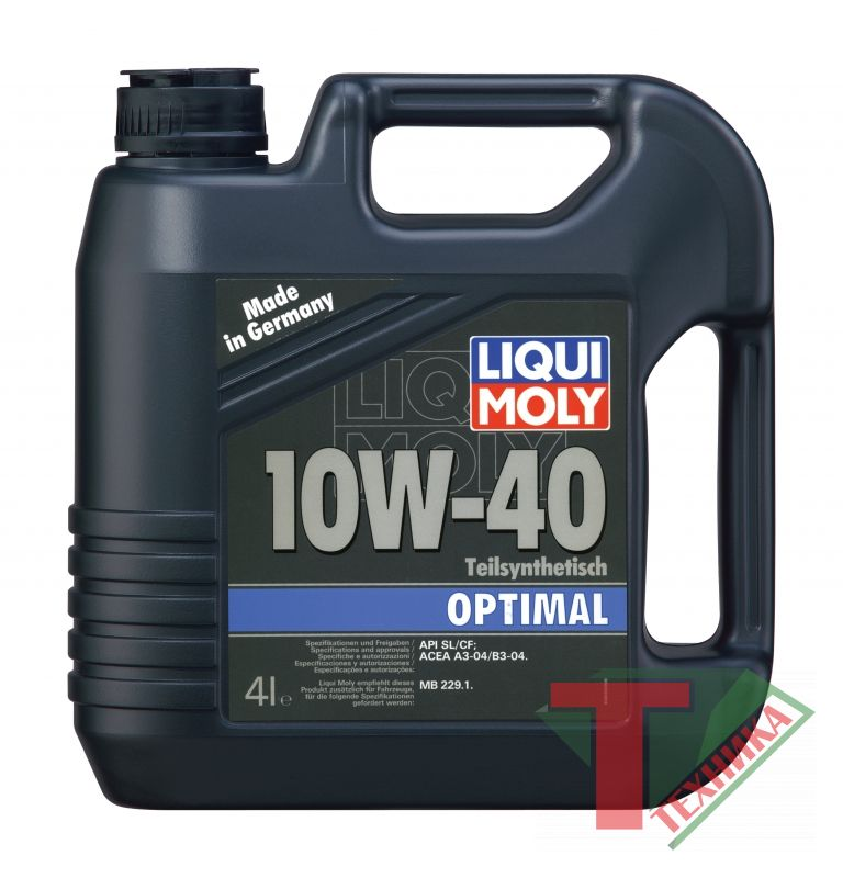 Liqui Moly Optimal 10W40 SL/CF; A3/B3 4л