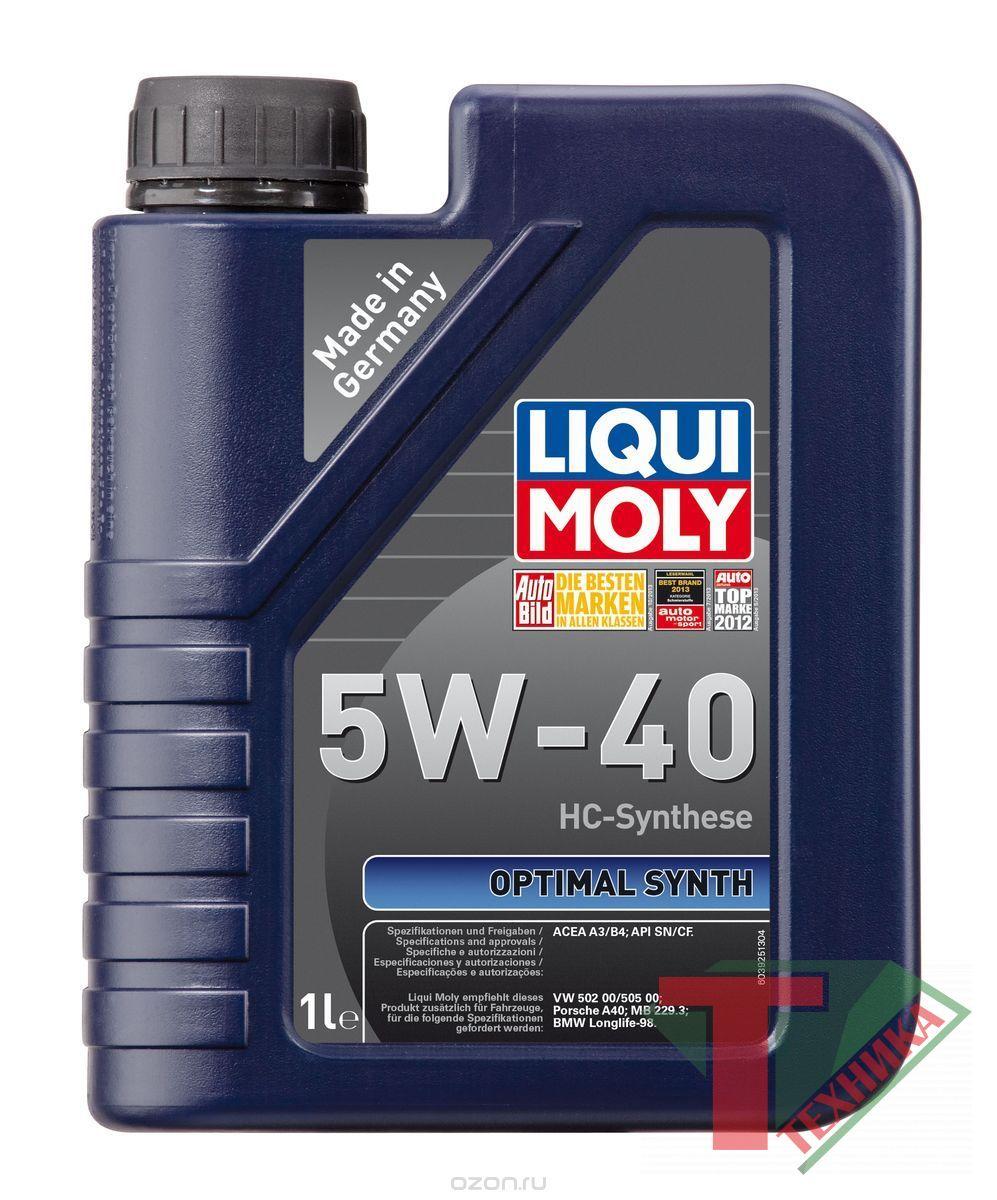 Liqui Moly Optimal Synth 5W40 SN/CF; A3/B4 1л