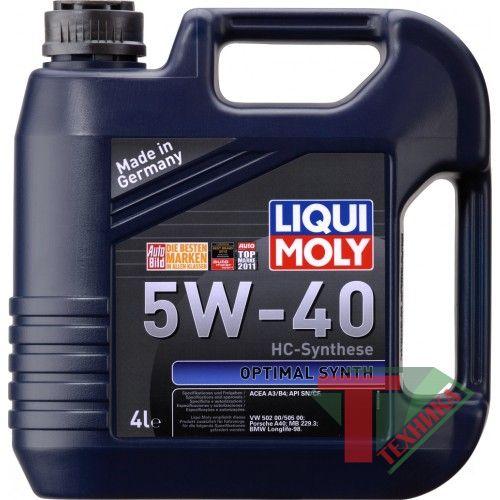 Liqui Moly Optimal Synth 5W40 SN/CF; A3/B4 4 л