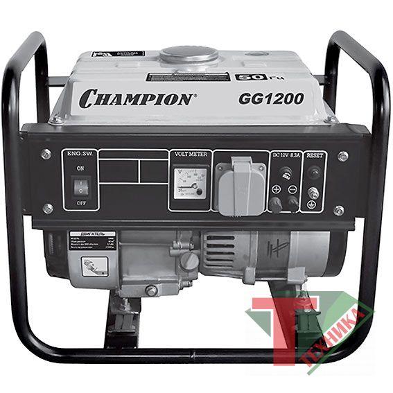 Генератор бенз.CHAMPION GG1200 12V 0,9/1,0 кВт
