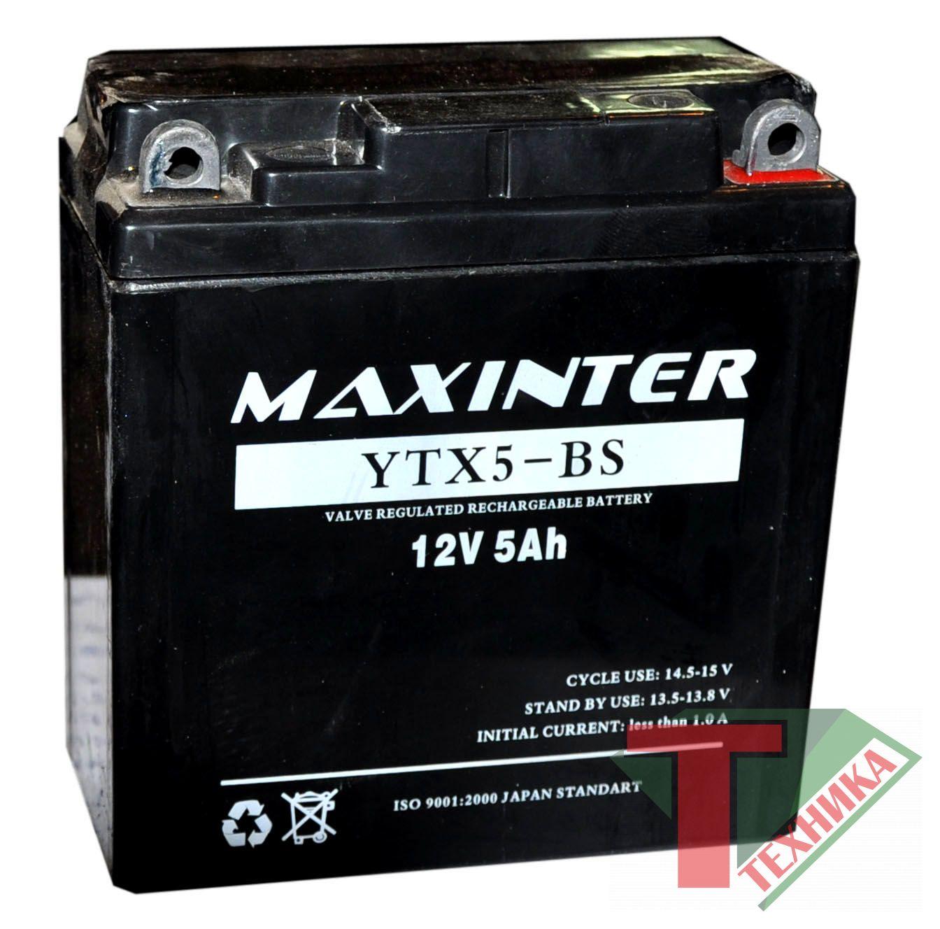 Акб Maxinter 12V 5A