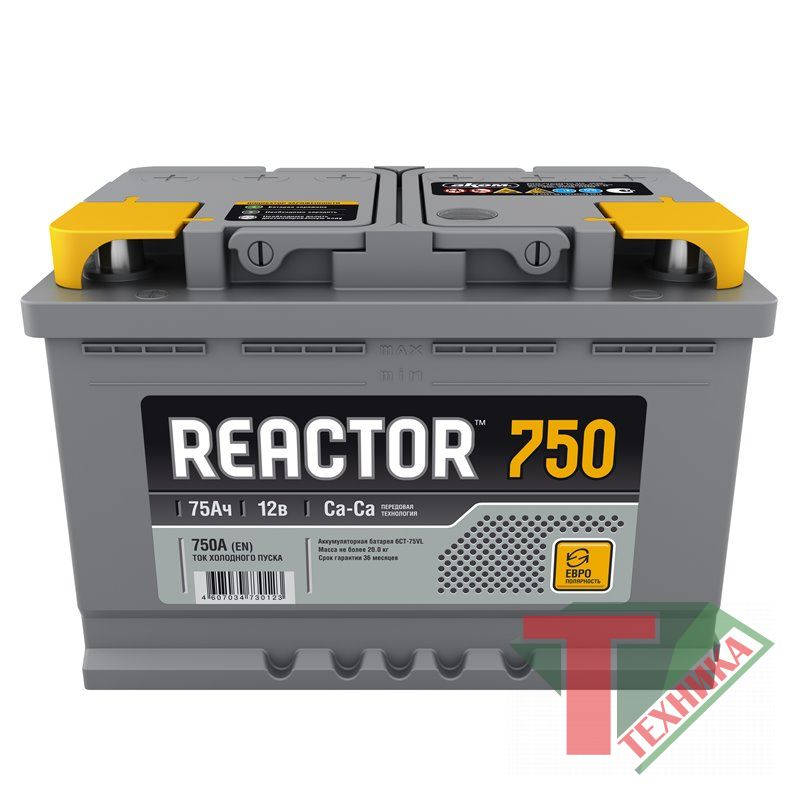 АКБ Reactor 75R EN750