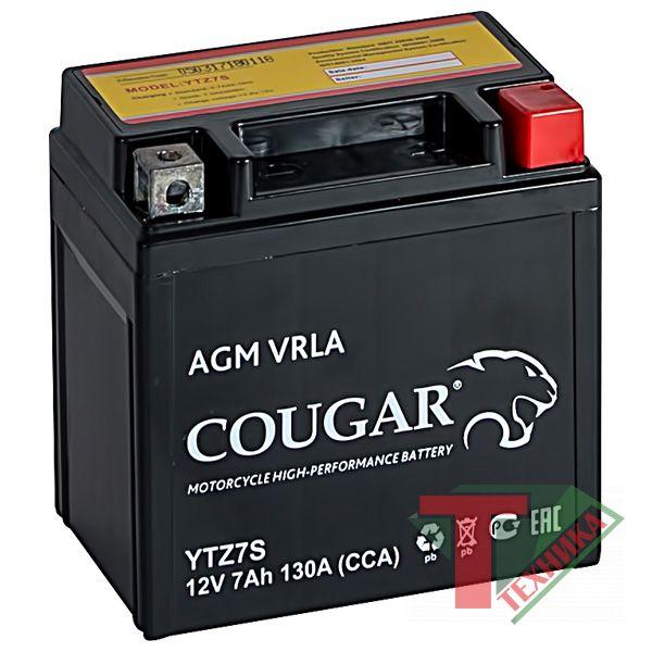 Акб Cougar YTX7L-BS 7 а/ч