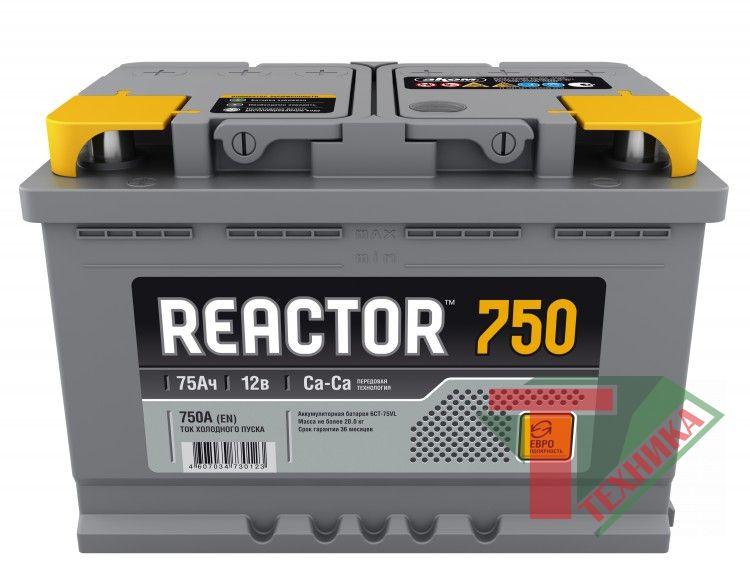 АКБ Reactor 75R EN750 о/п